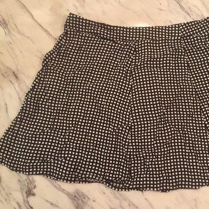 Checkered black and white mini skirt